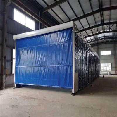 重工机械伸缩喷漆房 厂家供应