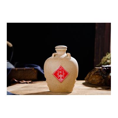 土色陶瓷酒瓶1斤3斤5斤酒瓶内塞密封酒壶酒具酒坛酒罐家用酒壶