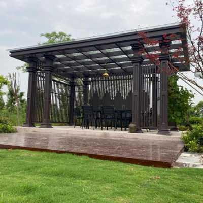 厂家直供定做铝合金新中式凉亭